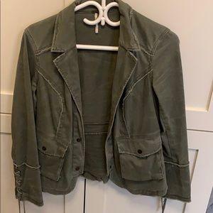 Anthropologie Utility jacket with fringe details